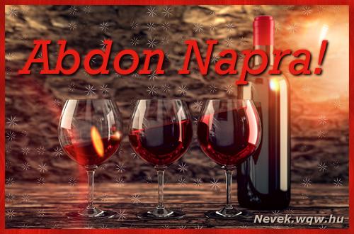 Vörösbor Abdon névnapra