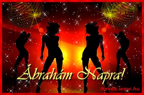 Ábrahám névnapi képeslap