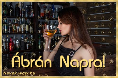 Névre szóló képeslap Ábrán névnapra