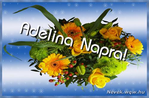Adelina névnapi képeslap
