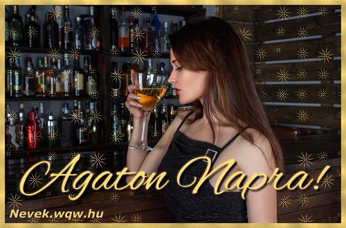 Névre szóló képeslap Agaton névnapra