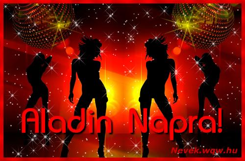 Aladin névnapi képeslap