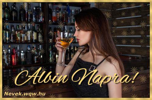 Névre szóló képeslap Albin névnapra
