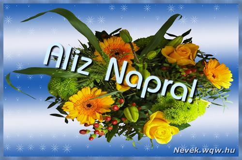 Aliz névnapi képeslap