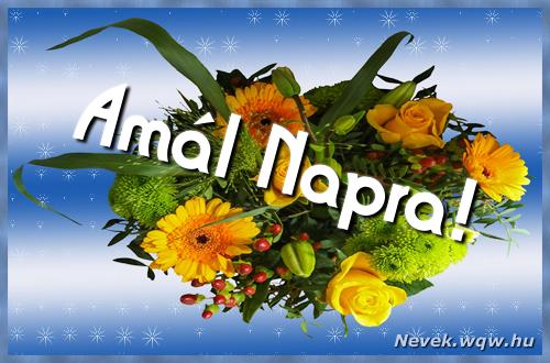 Amál névnapi képeslap