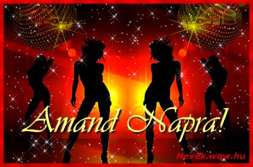 Amand névnapi képeslap