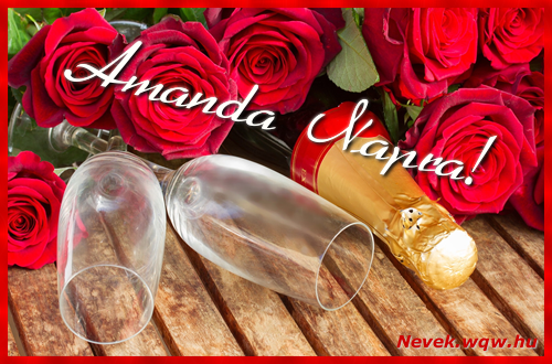 Amanda üdvözlőlap