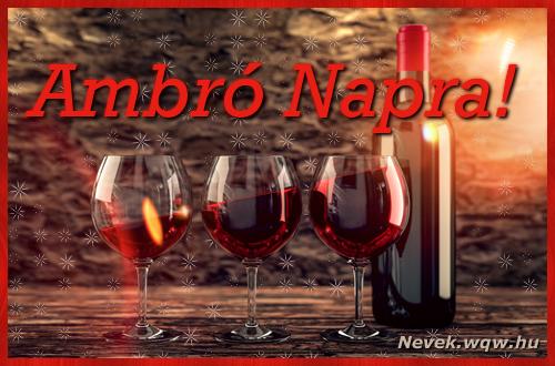Vörösbor Ambró névnapra