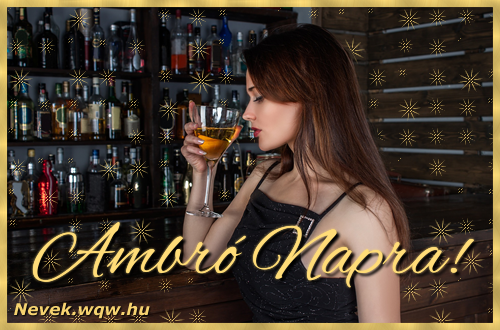 Névre szóló képeslap Ambró névnapra