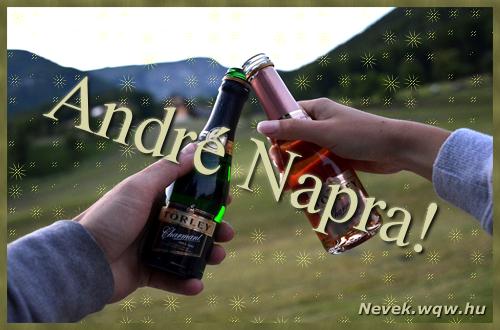 André képeslap