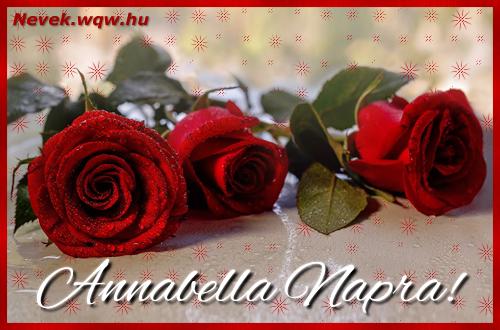 Névre szóló képeslap Annabella napra