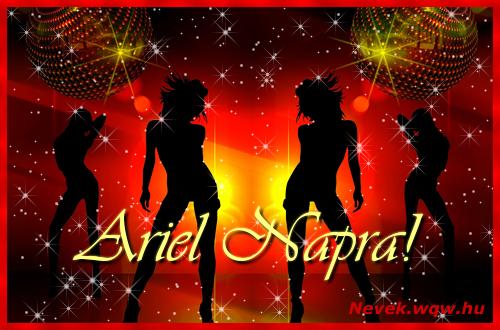 Ariel névnapi képeslap