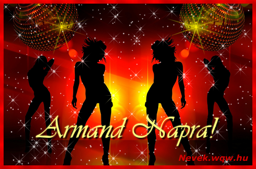 Armand névnapi képeslap