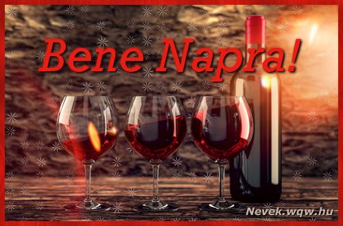 Vörösbor Bene névnapra