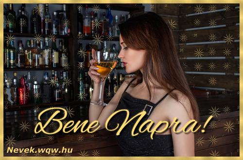 Névre szóló képeslap Bene névnapra