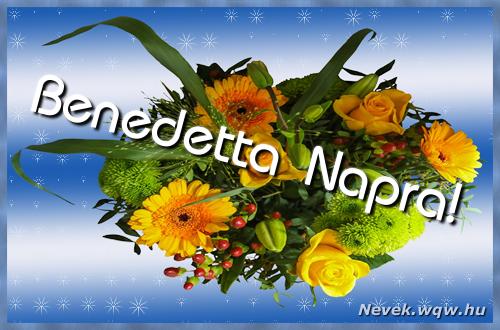 Benedetta névnapi képeslap