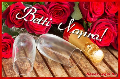 Betti üdvözlőlap