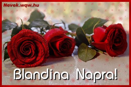 Névre szóló képeslap Blandina napra