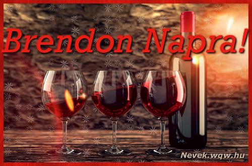 Vörösbor Brendon névnapra