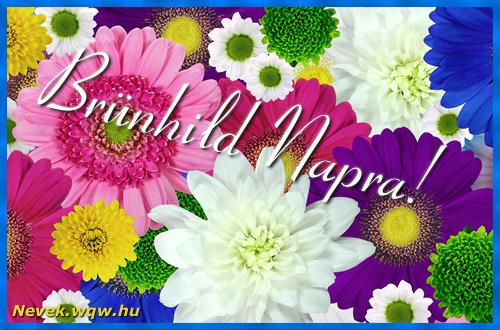 Színes virágok Brünhild névnapra