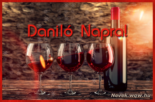 Vörösbor Daniló névnapra