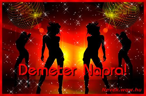Demeter névnapi képeslap