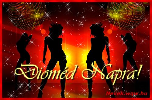 Dioméd névnapi képeslap