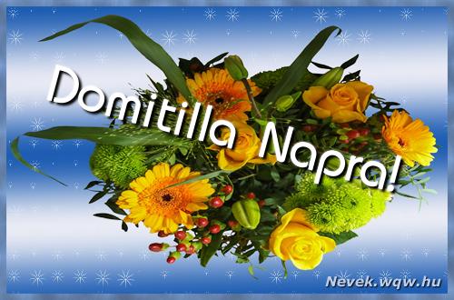 Domitilla névnapi képeslap