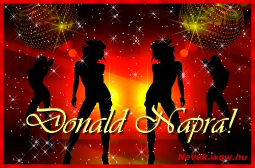 Donald névnapi képeslap