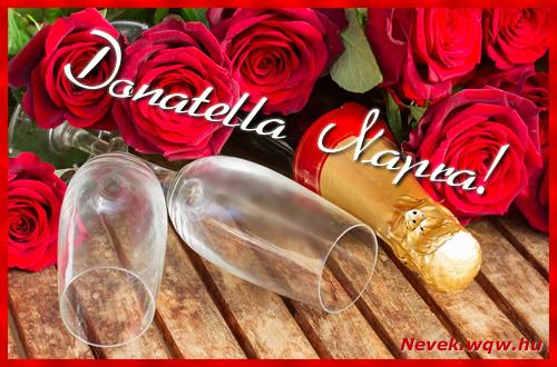 Donatella üdvözlőlap