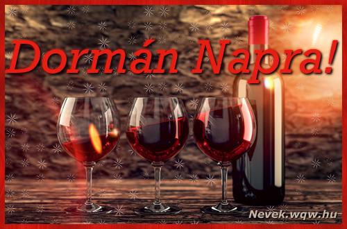 Vörösbor Dormán névnapra