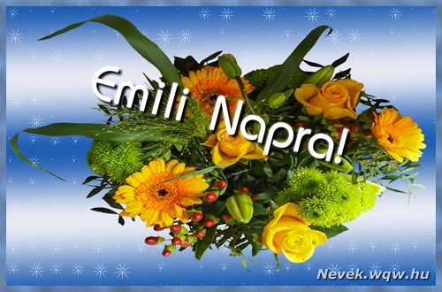 Emili névnapi képeslap