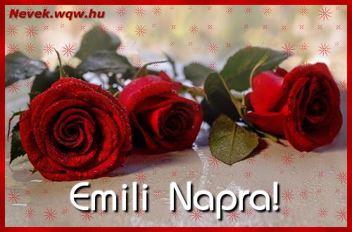 Névre szóló képeslap Emili napra