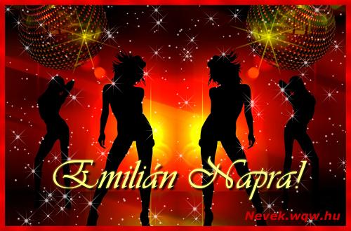 Emilián névnapi képeslap