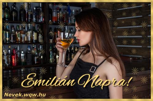 Névre szóló képeslap Emilián névnapra