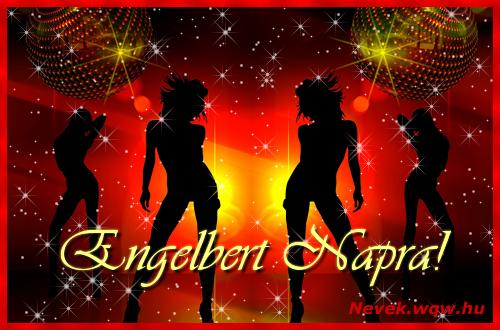 Engelbert névnapi képeslap