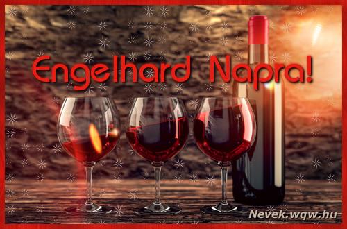 Vörösbor Engelhard névnapra