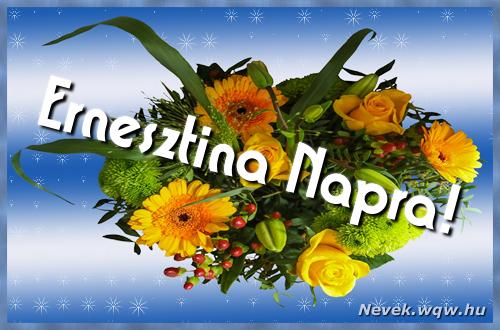 Ernesztina névnapi képeslap