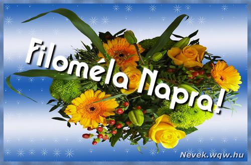 Filoméla névnapi képeslap