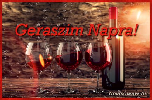 Vörösbor Geraszim névnapra