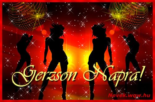Gerzson névnapi képeslap