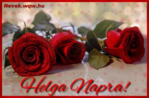 Névre szóló képeslap Helga napra