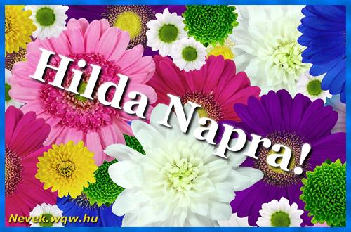 Színes virágok Hilda névnapra