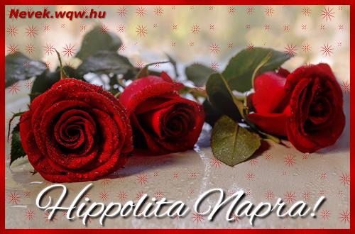 Névre szóló képeslap Hippolita napra