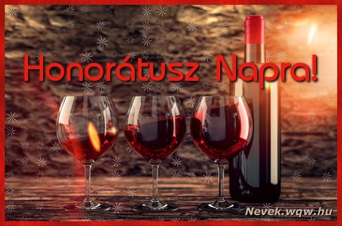 Vörösbor Honorátusz névnapra