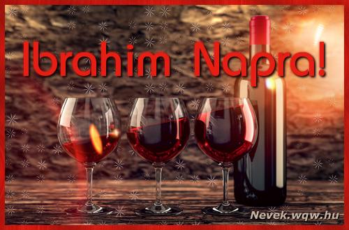 Vörösbor Ibrahim névnapra