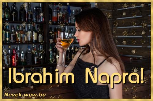 Névre szóló képeslap Ibrahim névnapra