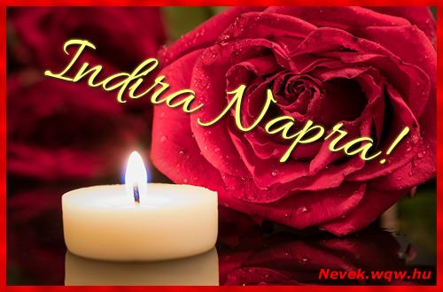 Indira képeslap