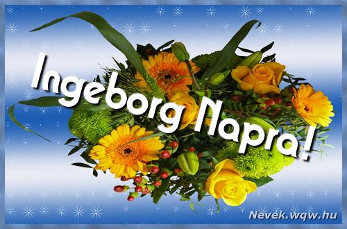 Ingeborg névnapi képeslap