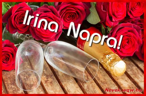 Irina üdvözlőlap